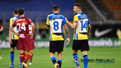 Vecino-Perisic Inter-Roma, foto di Tommaso Fimiano, Copyright Inter-News.it
