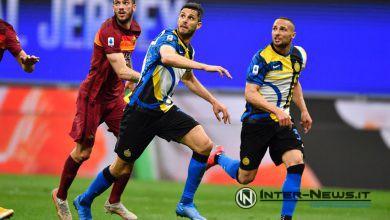 Ranocchia, D'Ambrosio Inter-Roma, foto di Tommaso Fimiano, Copyright Inter-News.it
