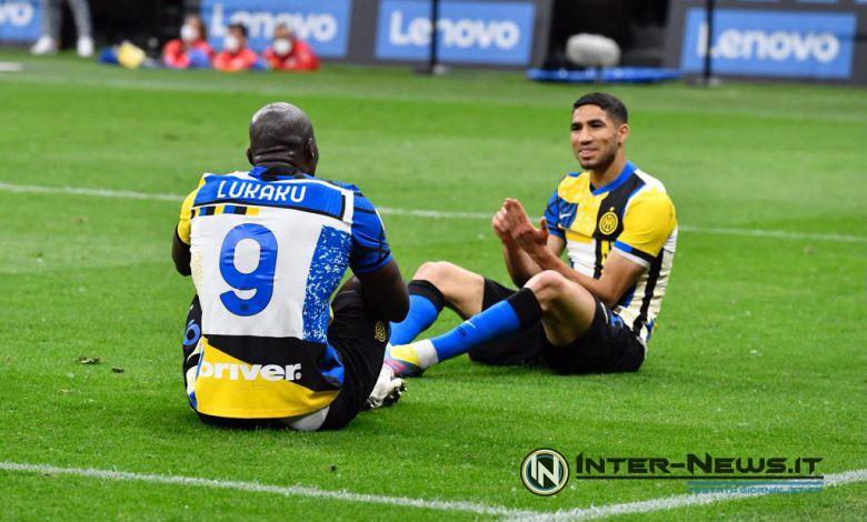 Romelu Lukaku e Achraf Hakimi in Inter-Roma (Photo di Tommaso Fimiano, Copyright Inter-News.it)