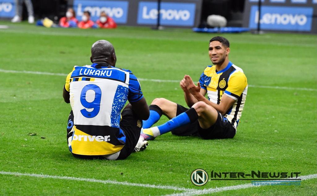 Lukaku-Hakimi, Inter-Roma, foto di Tommaso Fimiano, Copyright Inter-News.it