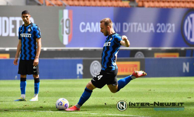 Eriksen, Inter-Udinese - Foto di Tommaso Fimiano, Copyright Inter-News.it