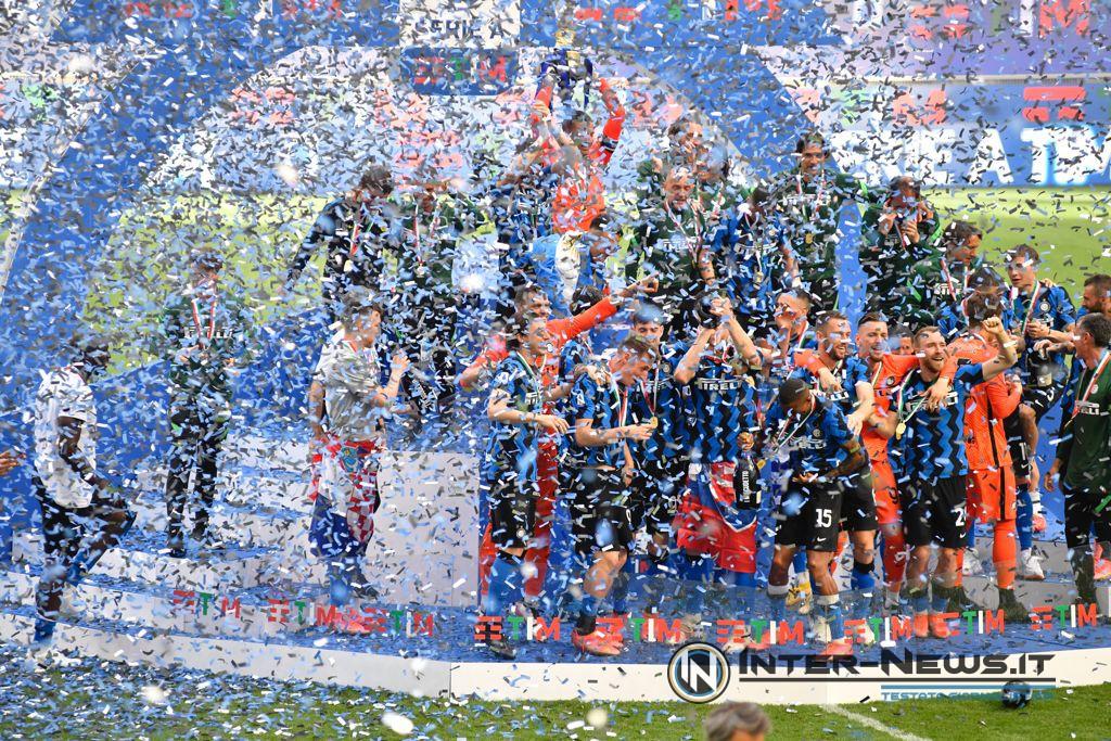 Inter, premiazione scudetto 2020-2021, foto di Tommaso Fimiano, Copyright Inter-News,it