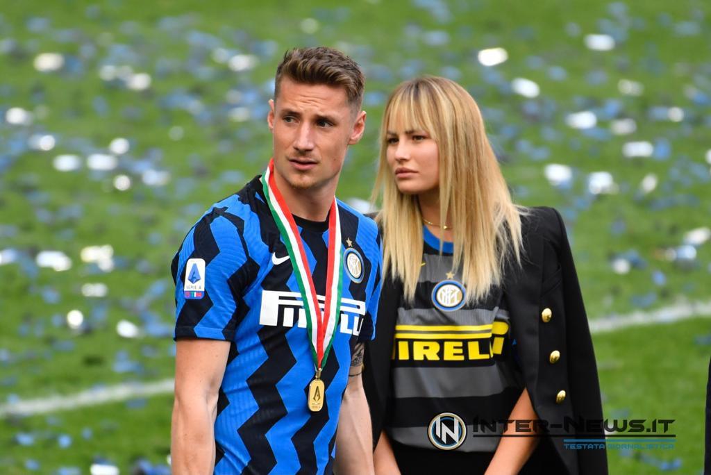 Pinamonti Inter, premiazione scudetto 2020-2021, foto di Tommaso Fimiano, Copyright Inter-News,it