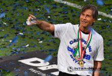 """Gabriele """"Lele"""" Oriali durante la premiazione Scudetto dell'Inter 2020-2021 (Photo by Tommaso Fimiano, Copyright Inter-News,it)"""