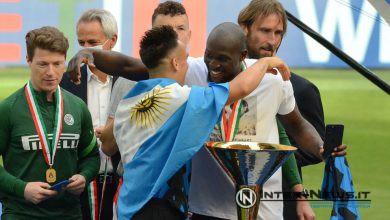 Lukaku, Lautaro Martinez, Inter, premiazione scudetto 2020-2021, foto di Tommaso Fimiano, Copyright Inter-News,it