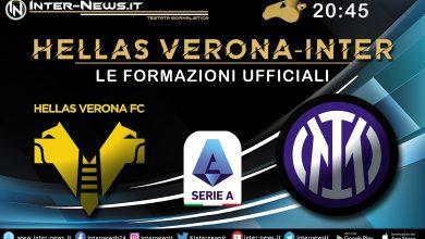 Hellas Verona-Inter - Formazioni Ufficiali