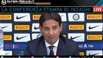 Simone Inzaghi in conferenza stampa per l'Inter