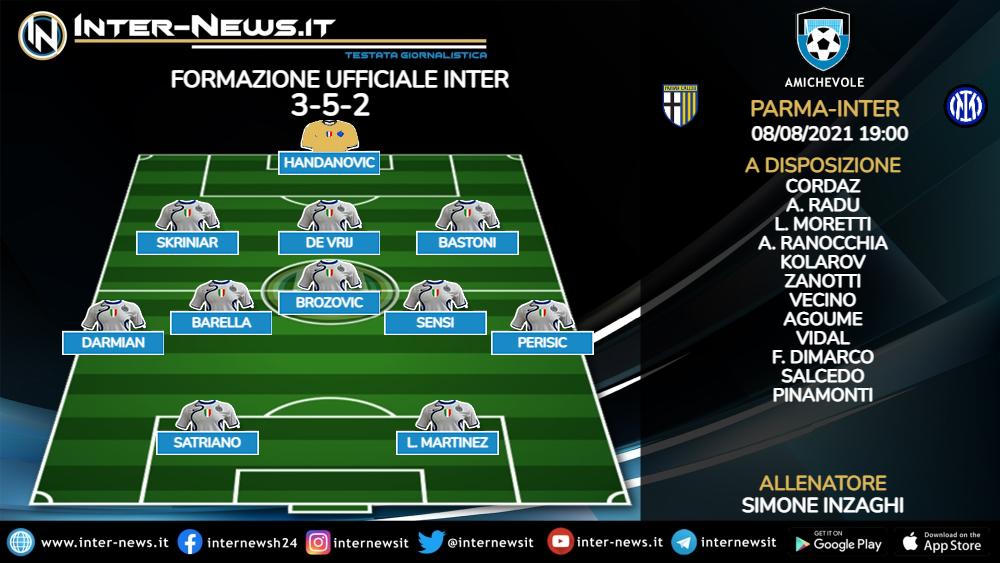 Parma-Inter formazione ufficiale