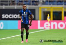 Denzel Dumfries in Inter-Genoa (Photo by Tommaso Fimiano, Copyright Inter-News.it)