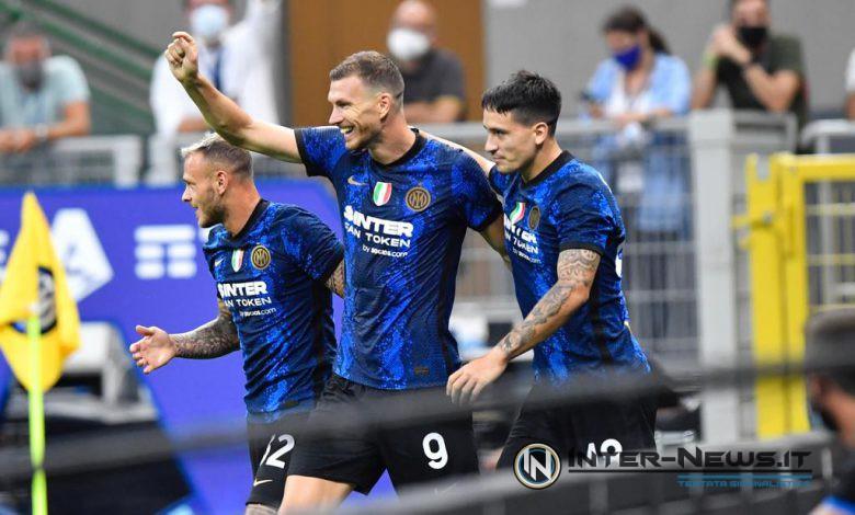 Esultanza in Inter-Genoa (Photo by Tommaso Fimiano, Copyright Inter-News)