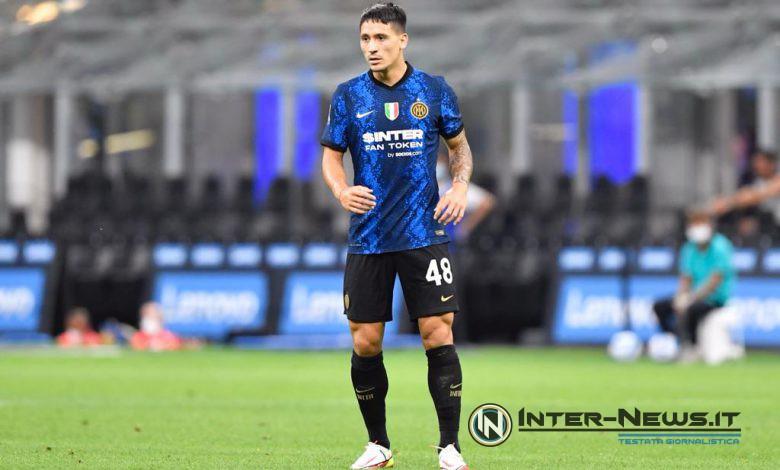 Martin Satriano in Inter-Genoa (Photo by Tommaso Fimiano, Copyright Inter-News.it)