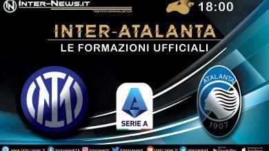 Inter-Atalanta - Le formazioni ufficiali