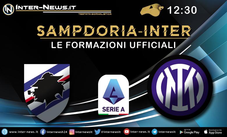 Sampdoria-Inter - Le formazioni ufficiali