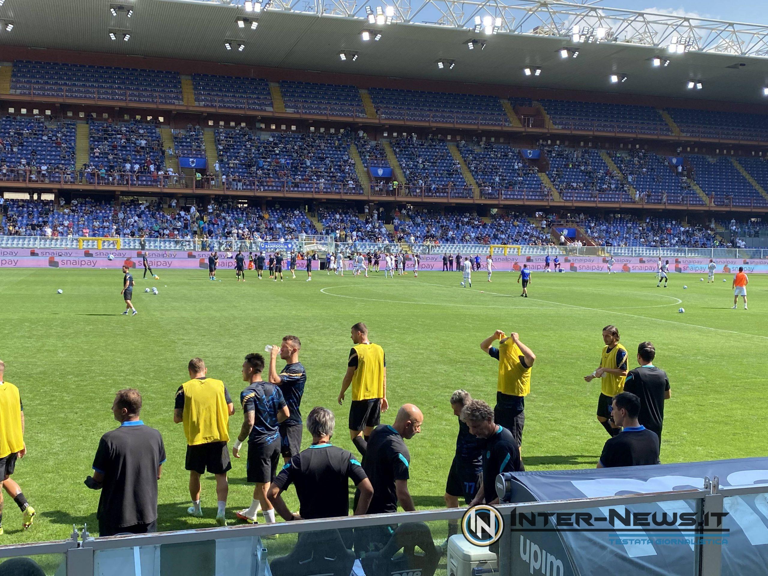 Sampdoria-Inter riscaldamento (photo by Roberto Balestracci, copyright Inter-News.it)