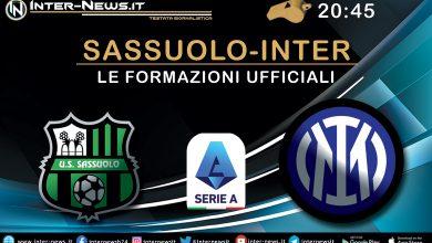 Sassuolo-Inter - Le formazioni ufficiali