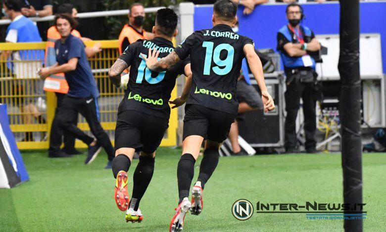 Lautaro Martinez e Joaquin Correa in Inter-Bologna (Photo by Tommaso Fimiano, Copyright Inter-News.it)