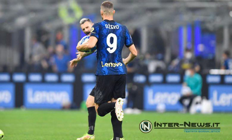 Edin Dzeko in Inter-Atalanta (Photo by Tommaso Fimiano, Copyright Inter-News.it)