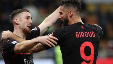 Giroud Saelemaekers Milan-Torino