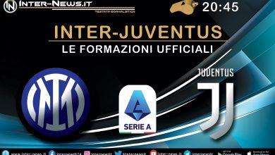 Inter-Juventus - Le formazioni ufficiali