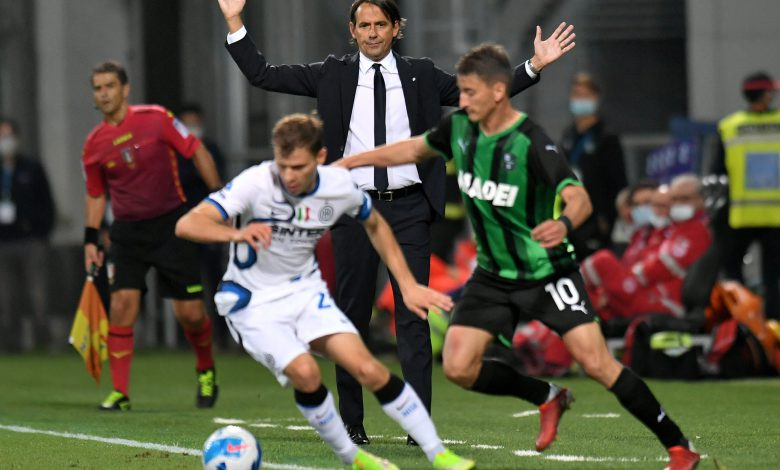 Simone Inzaghi in Sassuolo-Inter